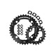 Race Face Turbine Chainring Set 4 Bolt 24/36 2x10-fach schwarz